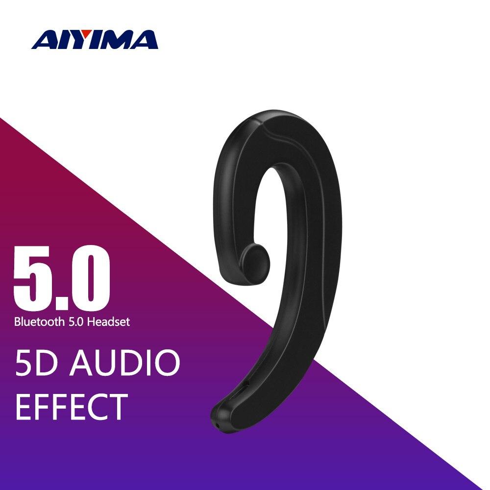 AIYIMA Bluetooth Headphone Waterproof Bone Conduction Earphone Ear Hook Painless Headset Portable Bass Sport Earphones Handsfree