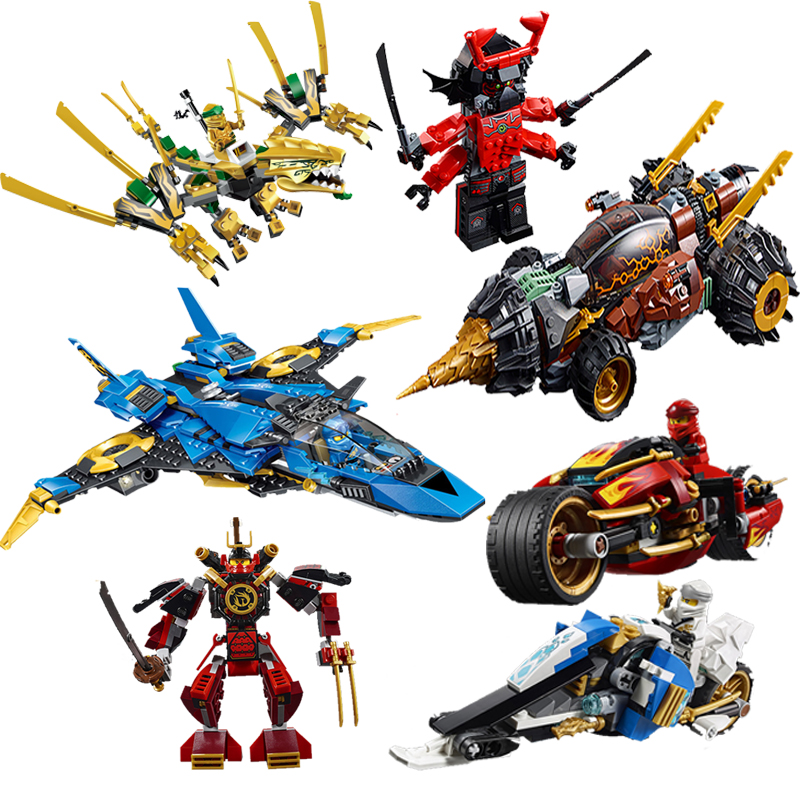 New 2019 <font><b>Ninjagoes</b></font> Fighter Spaceship Wars Figures Model Compatible with Legoinglys <font><b>70668</b></font> Building Blocks Toys For Children gift image