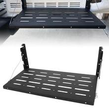 2020 Aluminum Alloy Foldable Cargo Shelf JK Tailgate Table Black 1 Set for Jeep-Wrangler 2007 2018 JK JKU