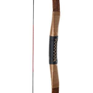 Image 4 - Huntingdoor Geleneksel Olimpik Yay Okçuluk Avcılık El Yapımı Longbow kahverengi deri Açık Çekim Moğol At Yay dizeleri