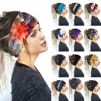 2020 New Printed Sports Wide Turban Sports Yoga Headband Women Girls Hair Head Hoop Bands Wrap Acces