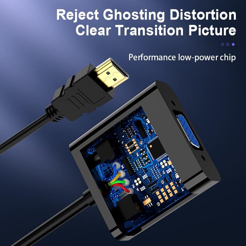 Адаптер HDMI в VGA обновленная версия конвертера 1080P VGA HDMI адаптация с аудио кабелем HDMI VGA адаптация для PS4 ноутбука ПК проектор