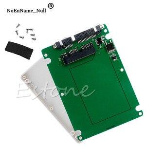 1.8inch Micro SATA 16 Pin SSD To 2.5inch SATA 22Pin HDD Adapter Converter With Case dropshipping