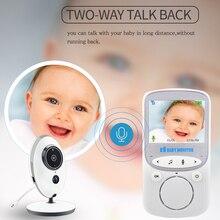 Moniteur vidéo pour bébé VB605, caméra de sécurité couleur sans fil de 2.4 pouces, interphone, walkie walkie infrarouge 24h, LED