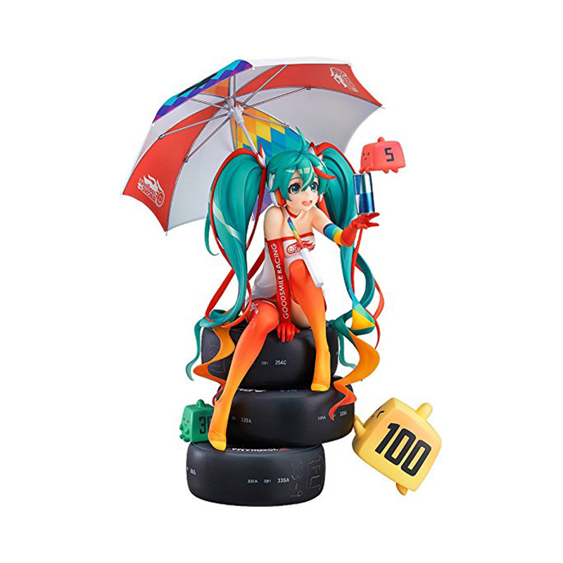 Vocaloid Hatsune Miku Racing Miku 2016 ver. 1/8 Scale PVC Pre-Painted Figure Collectible Model Toy Xmas gift Model B19