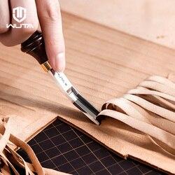 WUTA, herramienta profesional de corte y corte de cuero con borde de estilo francés, utensilio de corte y corte fino, mango de ébano, herramientas de corte de cuero de moler convexo