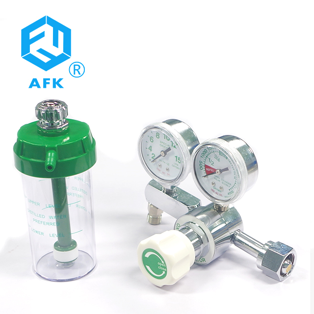 Medical Oxygen Regulator CGA540 with Flowmeter Gauge High Pressure For for Oxygen Cylinder 4000psi