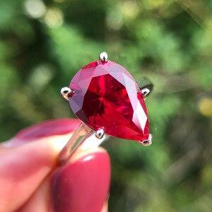 Image 5 - Pansysen Fonkelende Geel Chrysoberyl Engagement Ringen Voor Vrouwen Echt 925 Sterling Zilveren Sieraden Ring 8 Kleuren Big Size 5 12