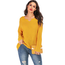 купить Candy Color New Casual Sweater Women Loose Streetwear Female Ladies Knitted Pullovers Autumn Winter Sueter Mujer Invierno 2019 онлайн
