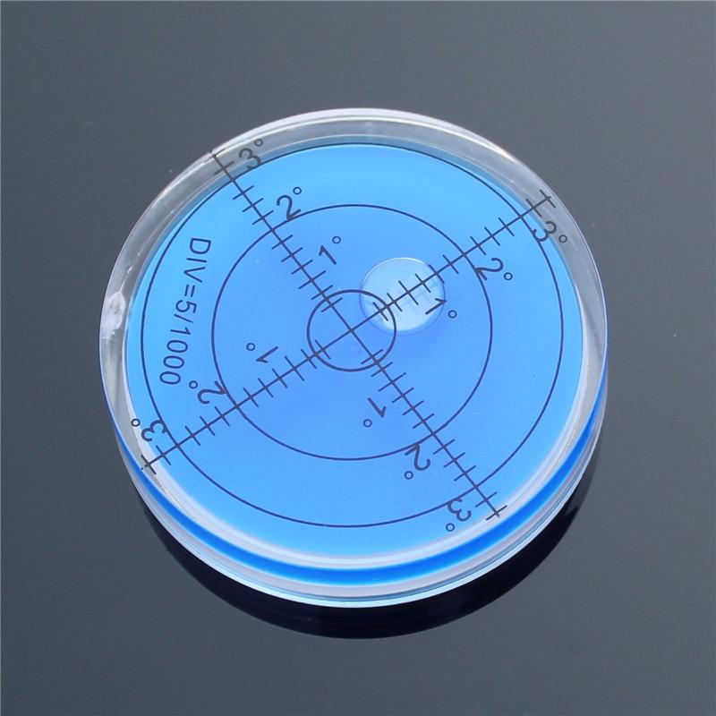 HACCURY Precision Bubble Spirit Level Round Circular Bullseye Level RV leveler Camper for instruments 60*12mm
