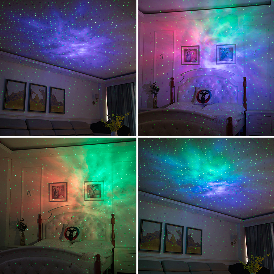 ALIEN Remote Star Galaxy Laser Projector Starry Sky Stage Lighting Effect Bedrooms Kids Room Party Night Holiday Wedding Lights 6