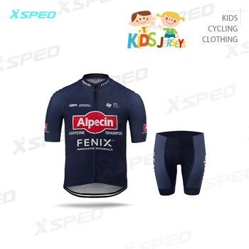 Conjunto de Ropa de Ciclismo para niños, uniforme manga corta, para verano,...