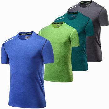 Męskie koszulki do biegania szybka kompresja na sucho t-shirty sportowe Fitness Gym koszulki do biegania koszulki tenisowa koszulka piłkarska odzież sportowa tanie i dobre opinie wsryxxsc Unisex spandex Pasuje prawda na wymiar weź swój normalny rozmiar Wiosna summer AUTUMN Winter S-4XL