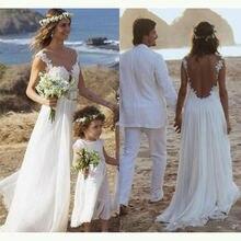 Горячая Распродажа летние пляжные кружевные свадебные платья