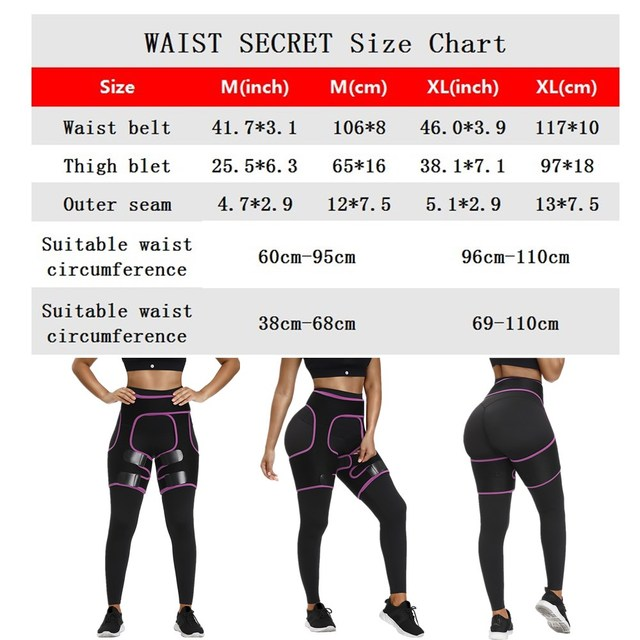 WAIST SECRET Slim Thigh Trimmer Leg Shapers Slender Slimming Belt Neoprene Sweat Shapewear Toned Muscles Band Thigh Slimmer Wrap 5