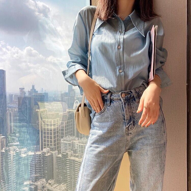 MISHOW 2020 Summer Fashion New Shirts Women Long Blouses Casual Fashion Long Sleeve Loose Tops Outwear Clothing MX20B4313 Blouses & Shirts  - AliExpress