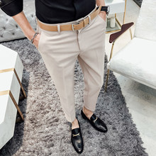 Costume Fashion Office Dress Pantaloni Tuta Business Slim Fit Formal Pant Men Suit Trousers Pantalon Khaki(China)