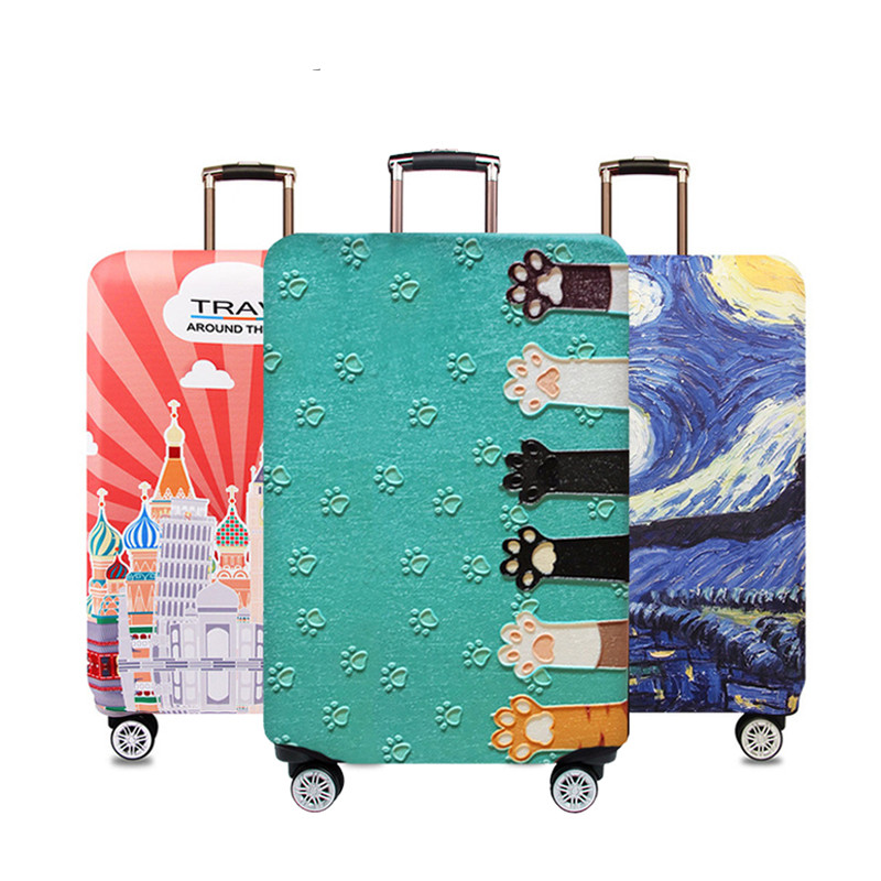 Thicker Travel Luggage Protective Cover Suitcase Case Travel Accessorie Baggag Elastic Luggage Cover Apply to 18-32inch Suitcase image