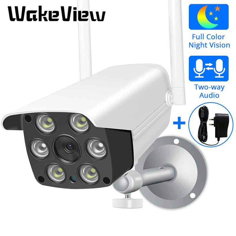 كاميرا ويكفيو 4.0MP IP HD سحابة لاسلكية واي فاي في الهواء الطلق مانعة لتسرب الماء الأشعة تحت الحمراء الأشعة تحت الحمراء للرؤية الليلية كاميرا الأمن مع TF فتحة التطبيق