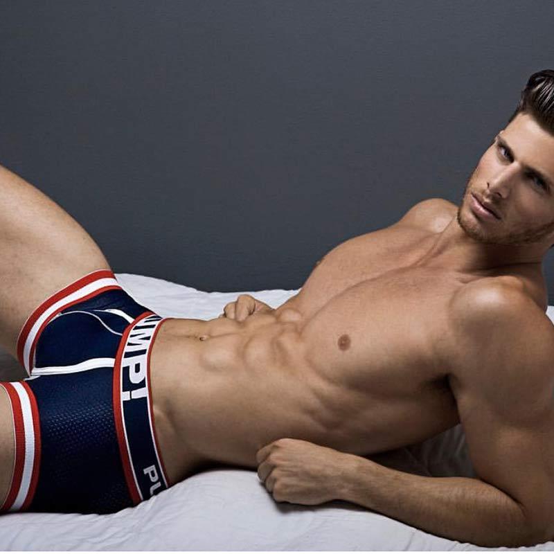 Boxers Shorts Lingerie PUMP Underpants Sexy Men Male Man Cueca
