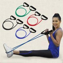 1 rohr TPE Elastischen Widerstand Bands Gummi Yoga BandFor Fitness Training Workout Ausrüstungen Home Gym Pull Seil 120cm(China)