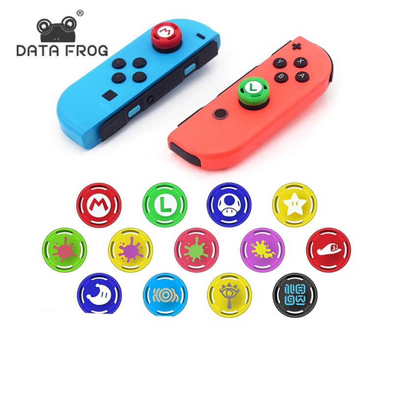 DATA FROG 2 PCS Analog Thumb Stick Grip Cap Skin  For Nintend Switch NS JoyCon Controller Sticks For Joy Con Switch Replacement