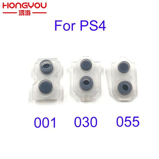 50pcs en caoutchouc Conducteur de JDS 001 011 030 040 050 055 L1 R1 L2 R2 En Caoutchouc Silicone Conducteur Bouton Set De pad Pour PS4 DualShock