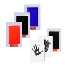 Уход за ребенком нетоксичный новорожденный Handprint Набор для отпечатка ступней сувениры литье родитель-ребенок рука Inkpad водяной знак Младенческая глиняная игрушка