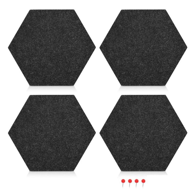 Felt Memo Board Decorative Notice Board Hexagon Bulletin Board,Felt Cork Board Tiles,Pin Board Wall Decor For Photos,Memos(20 X