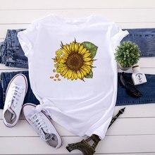 Cotton New Women T-shirts Casual Harajuku Love Printed Tops Tee