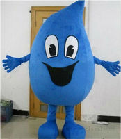 Blue Water Drop Mascot Costume Suit Parade Cosplay Party Fancy Dress Adults Cosplay Advertising Halloween Parade Outfits Unisex