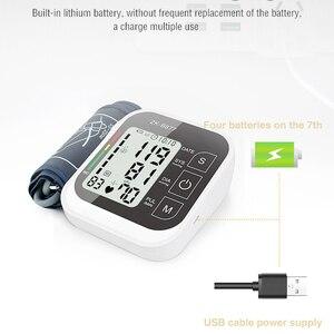 Image 5 - JZIKI LCD numérique automatique bras tensiomètre tonomètre mètre sphygmomanomètre Portable Tensiometro manchette partenaire de santé