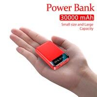 Mini Power Bank portatile da 30000mAh con Display digitale LCD a LED batteria esterna a ricarica rapida per Xiaomi Iphone Samsung