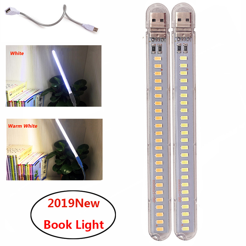 Portable Light 24 Led Book Lamp USB Reading Lamp Student Book Light For Power Bank Laptop Emergency Night Light
