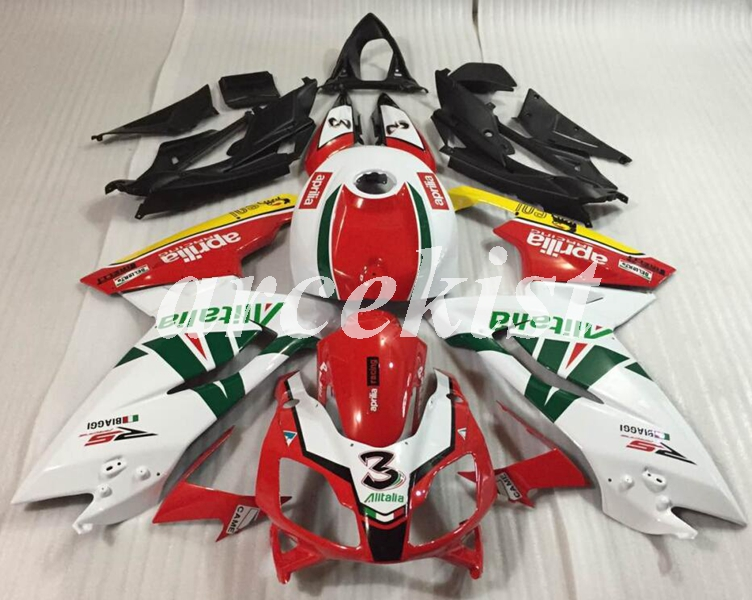 Motorcycle Injection Mold New ABS Full Fairings Kit Fit For Aprilia RS125 06 07 08 09 10 11 RS 125 2006-2011 Body Set Number 3