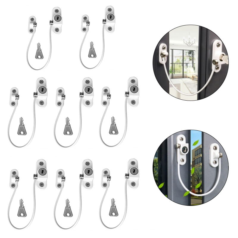 4/8Pcs/Set Window Locks Children Protection Lock Stainless Steel Window Limiter Baby Safety Infant Security Window Locks