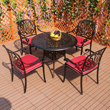 Outdoor table and chair courtyard leisure three or five sets of outdoor garden furniture iron cast aluminum balcony chair balcon cheap CN(Origin) Beach Chair Outdoor Furniture