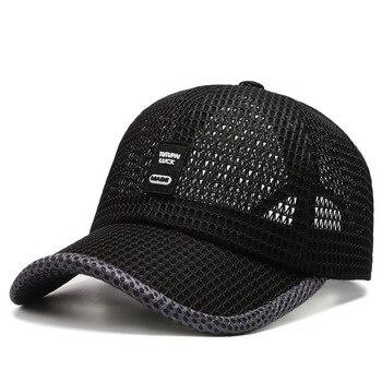 Mens Womens Visor Caps Mesh Breathable Summer Baseball Fishing Running Golf Hat For Men Women