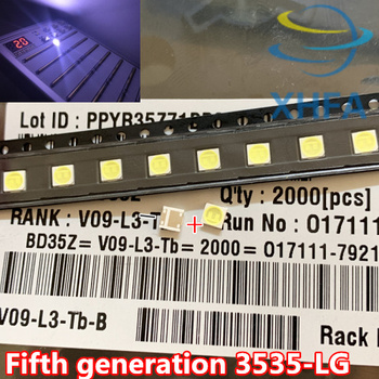 For LG LED LCD Backlight TV Application High Power LED Backlight 2W 6V 3535 SMD LED 80 PCS Cool white image