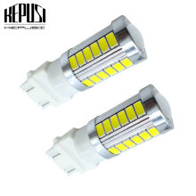 цена на 2x T25 3157 Led Turn Signal Bulb P27/7W Led Light For Auto Turn Signal Brake Backup Reverse Light 3157 White LED 12V