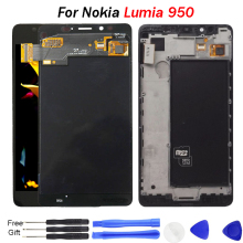 Original For Microsoft Nokia Lumia 950 LCD Display Amoled Touch Screen Digitizer Assembly With frame for lumia950 screen все цены