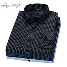 Davydaisy 2020 Nieuwe Collectie Mannen Shirt Lange Mouw Shirts Twill Plaid Mode Causale Jurk Man Shirt 17 Kleuren Merk Kleding DS342(China)