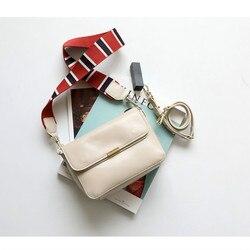 المرأة حقيبة حقائب يد جلدية شخصية واسعة حزام الكتف بلون الجلود المغلف حزمة 2019 جديد