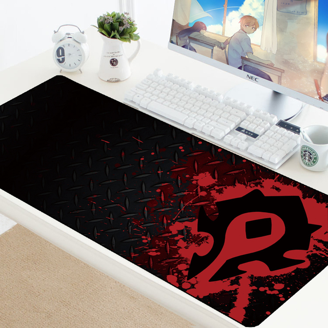 World of Warcraft Gaming Mousepad Speed Locking Edge WOW Large Natural Rubber Waterproof Game Desk Keyboad Mat for Dota Computer
