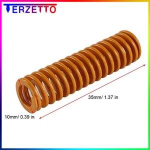 4 шт. оранжевая пружина длиной 35 мм OD 10 мм Высокая эластичность для подогреваемой кровати TEVO Tarantula серии 3D части принтера