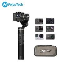 كاميرا الحركة الذكية من FeiyuTech G6 ذات 3 محاور ومثبتة بخاصية بلوتوث وواي فاي للهواتف المحمولة Gopro Hero 7 6 5 Sony RX0 Feiyu