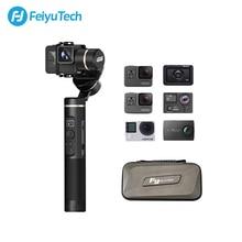 Feiyutech g6 à prova de respingo 3 axis handheld cardan ação câmera estabilizador bluetooth & wifi para gopro hero 7 6 5 sony rx0 feiyu