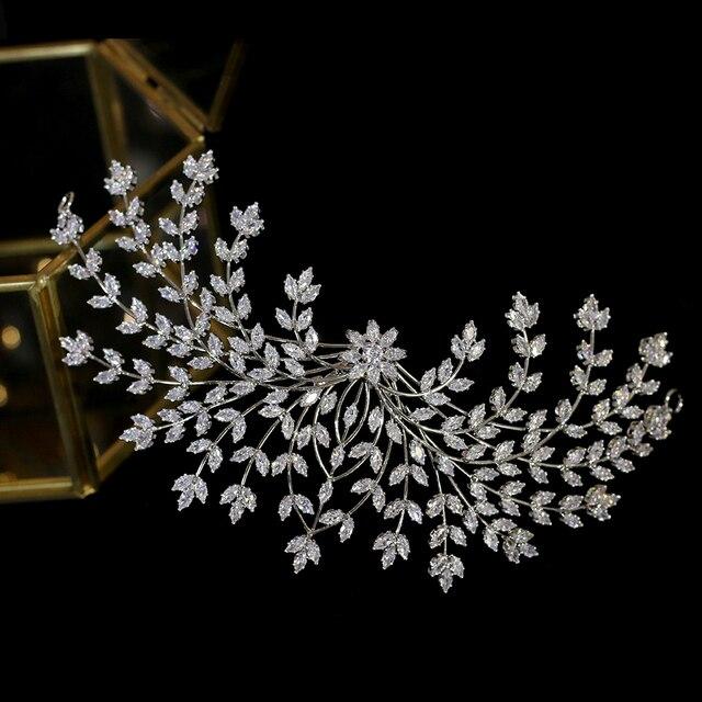 新デザイン花嫁ティアラヘアアクセサリー花の女性の結婚式のヘアアクセサリーサイドクリップディナーウェディングドレスのアクセサリー