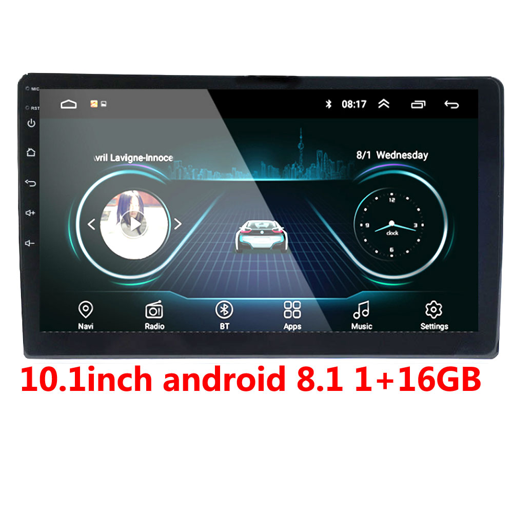 <font><b>2din</b></font> Car Radio Android multimedia player Autoradio 2 Din 10.1 inch Touch screen GPS Bluetooth FM WIFI auto audio player stereo image