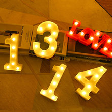 Birthday Wedding Anniversary Led Letter Night Light Creative 0-9 Light Number Battery Lamp Romantic Wedding Party Decoration(China)